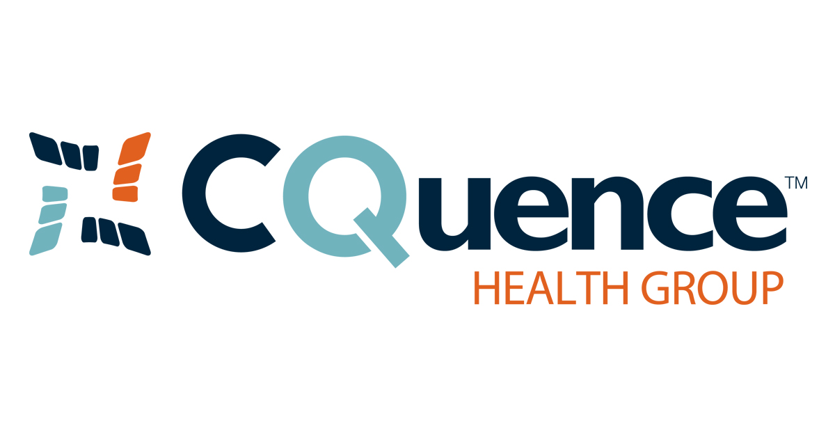cquence company logo, spelled out in multiple colors