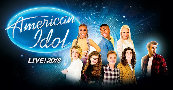 American Idol logo with the top 7 Finalists