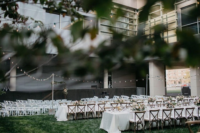 Courtyard Reception and Ceremony