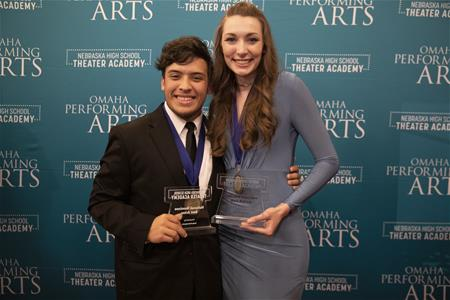 Drew Sinnard_left and Piper Monson_right_will represent Nebraska and Omaha Performing Arts at the national Jimmy Awards on Broadway in June 2019