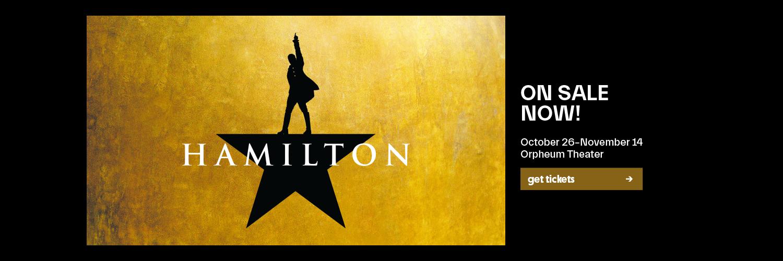 HAMILTON tickets are on sale!